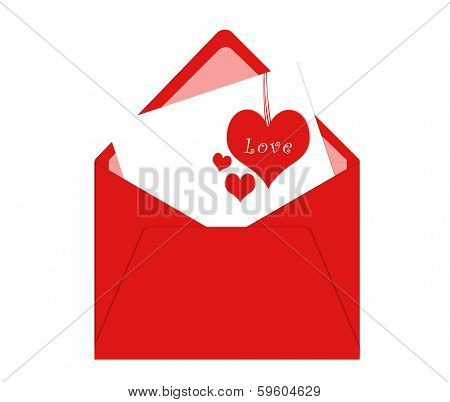 Postcard for Happy Valentine Day