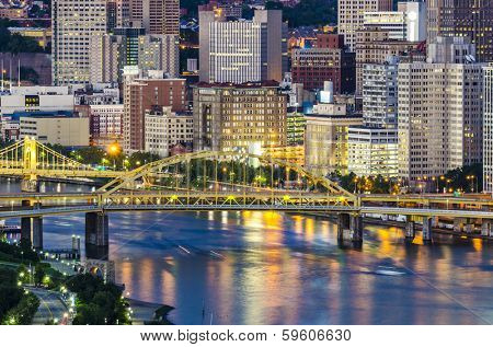 Pittsburgh, Pennsylvania on the Allegheny River.