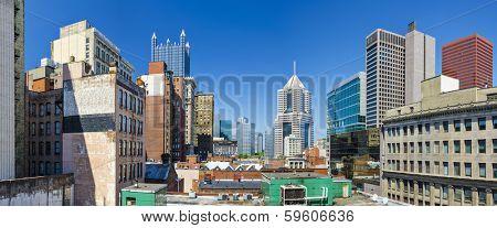 Pittsburgh, Pennsylvania, USA downtown panorama.