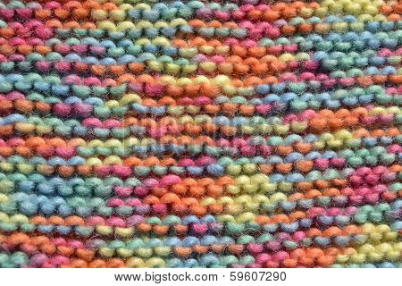 Texture of knitting wool in some colors