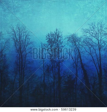 Grunge trees background