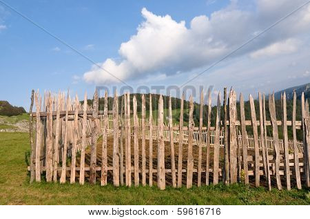fence, old and weathered, in