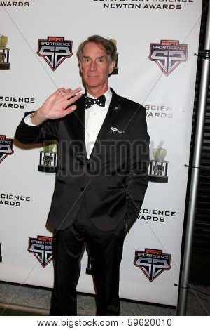 LOS ANGELES  - FEB 9:  Bill Nye at the ESPN Sport Science Newton Awards at Sport Science Studio on February 9, 2014 in Burbank, CA