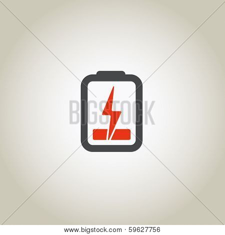 Accumulator icon with lighting symbol