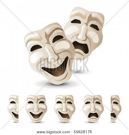 theater masks icons