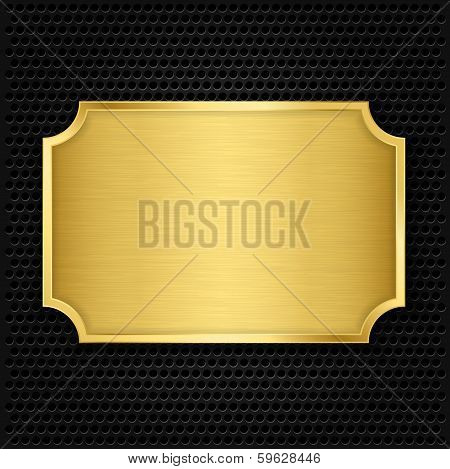Gold texture plate, vector illustration