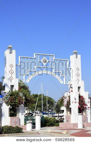 Close-up Of Sarasota Bayfront Entrance