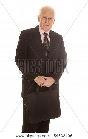 Elderly Business Man Serious