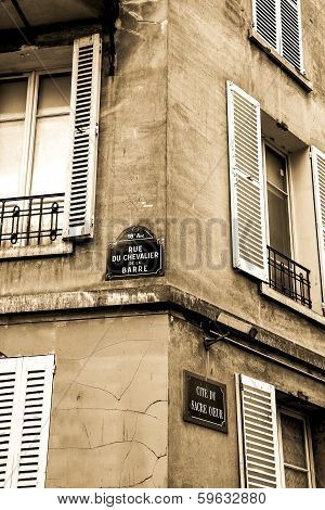 Street corner in Montmartre, Paris