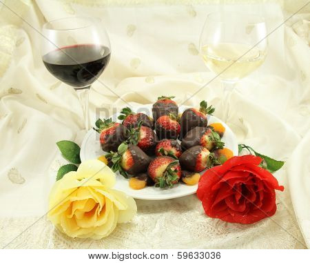 Wine, Roses And Sweets