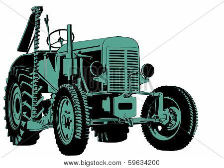 Tractor cutting