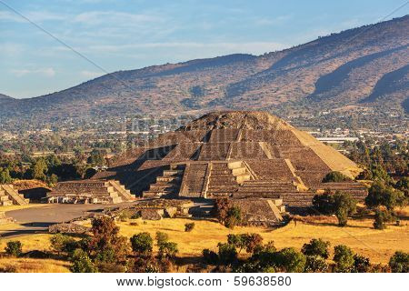 Pyramid of the Sun. Teotihuacan. Mexico.