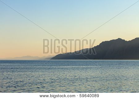 Red Sea and mountain in Dahab