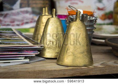 Metal Bells In The Gift Shop