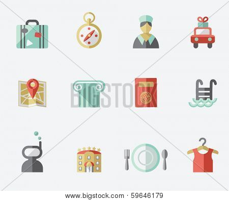 Travel and hotel icons