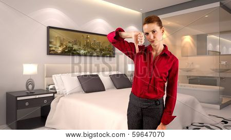Businesswoman in a Hotelroom