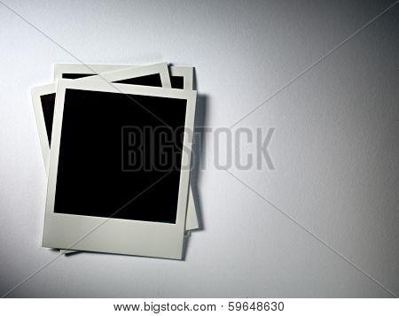Polaroid Film Vintage empty photo cards on white background
