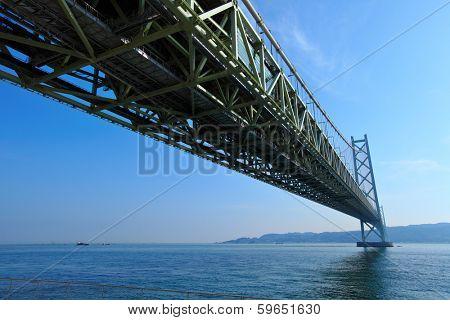 View under the Akashi Kaikyo bridge