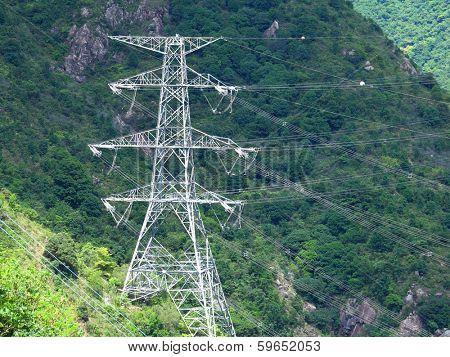 Powerline on mountain