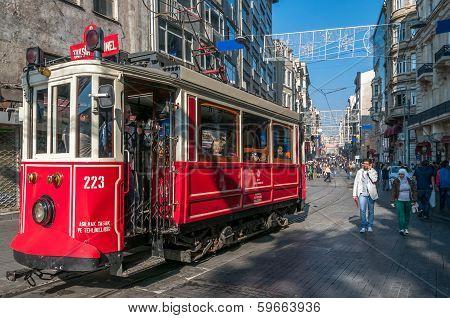Nostalgic Tram Of Istanbul