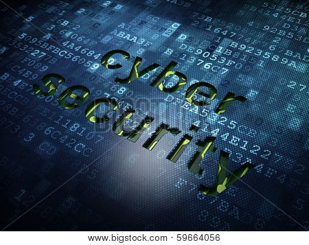 Security concept: Cyber Security on digital screen background