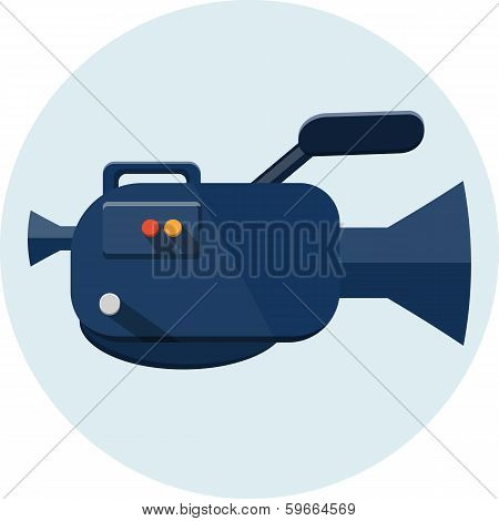 video camera , flat illustration