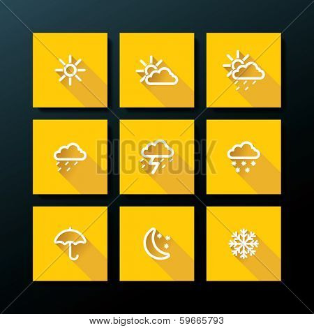 Weather icon set - vector illustration