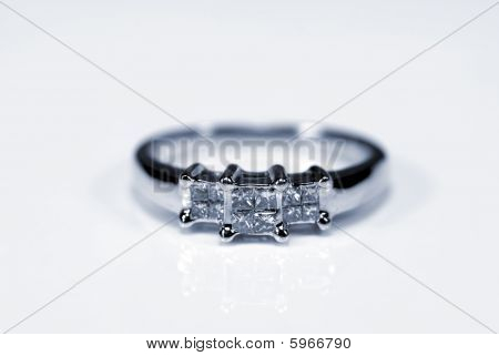 Trilogy Diamond White Gold Ring
