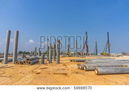 Construction, piling stage