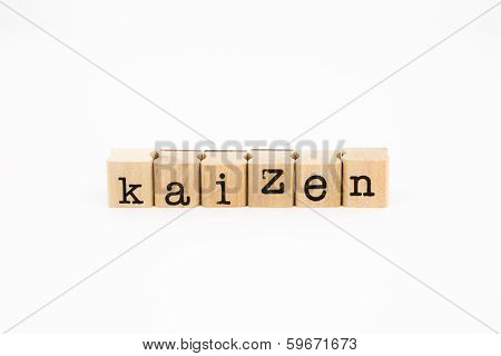 Kaizen Wording Isolate On White Background