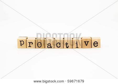 Proactive Wording Isolate On White Background
