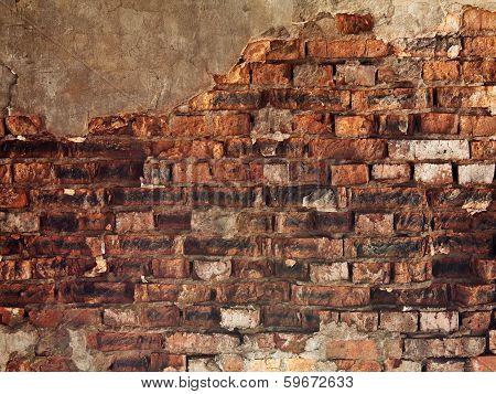 A Red Old Brick Masonry