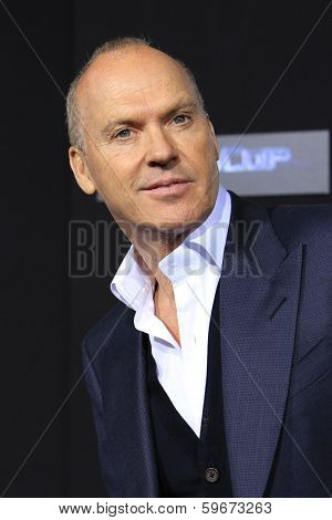 LOS ANGELES - FEB 10: Michael Keaton at the premiere of Columbia Pictures' 'Robocop' at TCL Chinese Theatre on February 10, 2014 in Los Angeles, California