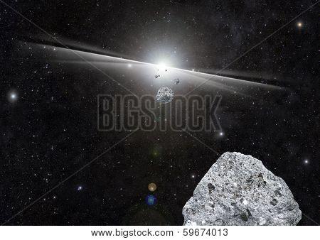 Explosion Space Debris