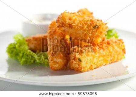 Fried Cheese Sticks with Tartar Sauce