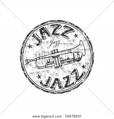 Jazz grunge rubber stamp