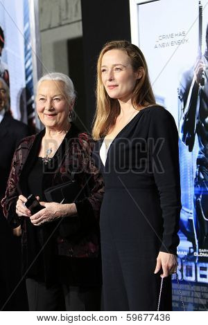 LOS ANGELES - FEB 10: Rosemary Harris, Jennifer Ehle at the premiere of Columbia Pictures' 'Robocop' at TCL Chinese Theatre on February 10, 2014 in Los Angeles, California