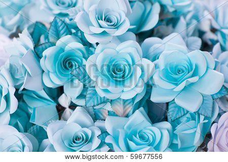 blue funeral flower