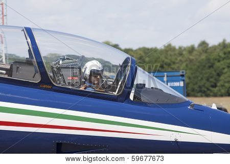 pilot in a stunt plane