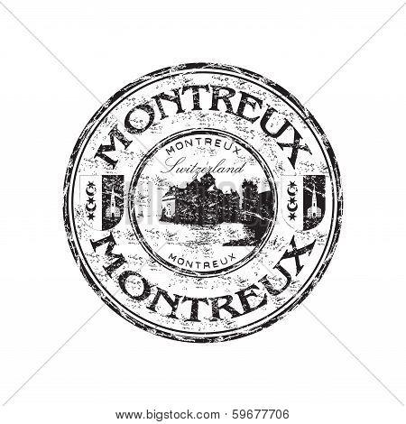 Montreux grunge rubber stamp