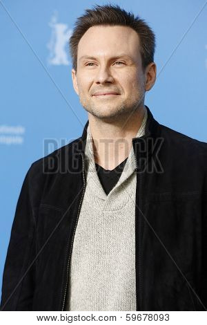 BERLIN - FEB 9: Christian Slater at the 'Nymphomaniac Volume I' photocall - 64th Berlinale International Film Festival at Grand Hyatt Hotel on February 9, 2014 in Berlin, Germany