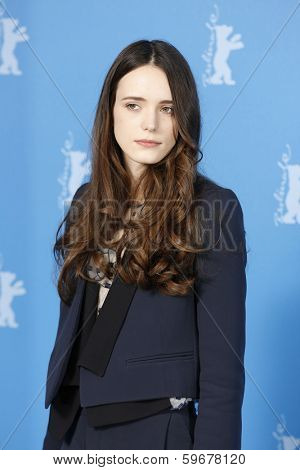 BERLIN - FEB 9: Stacy Martin at the 'Nymphomaniac Volume I' photocall - 64th Berlinale International Film Festival at Grand Hyatt Hotel on February 9, 2014 in Berlin, Germany