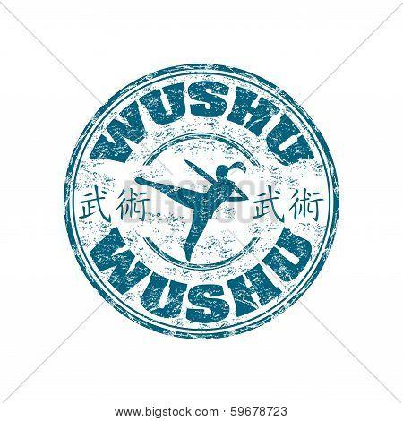 Wushu grunge rubber stamp