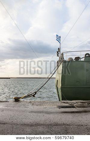 Cargo Ship Poop In Harbor