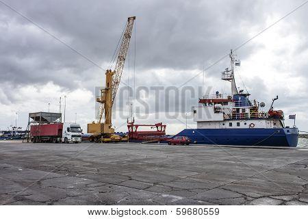 Ship Unloading Grain On Truck