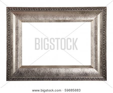 antique classical frame isolated on white background, with path