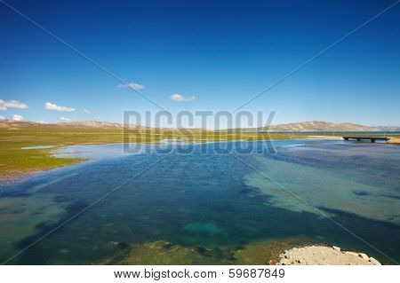 Lake Landscape In Tibet