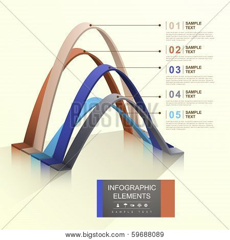 Abstract Arch Infographics