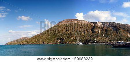 Panoramic View Of Vulcano Island, Lipari, Sicily