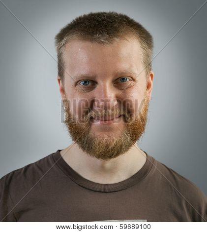 Cheerful, Bearded Man